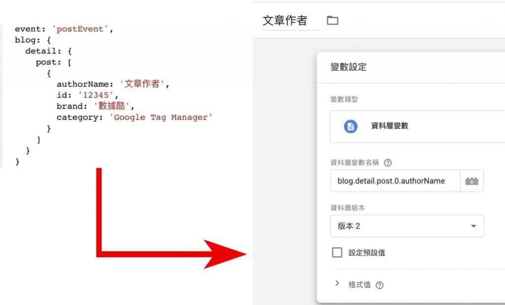 Google Tag Manager 設定資料層變數
