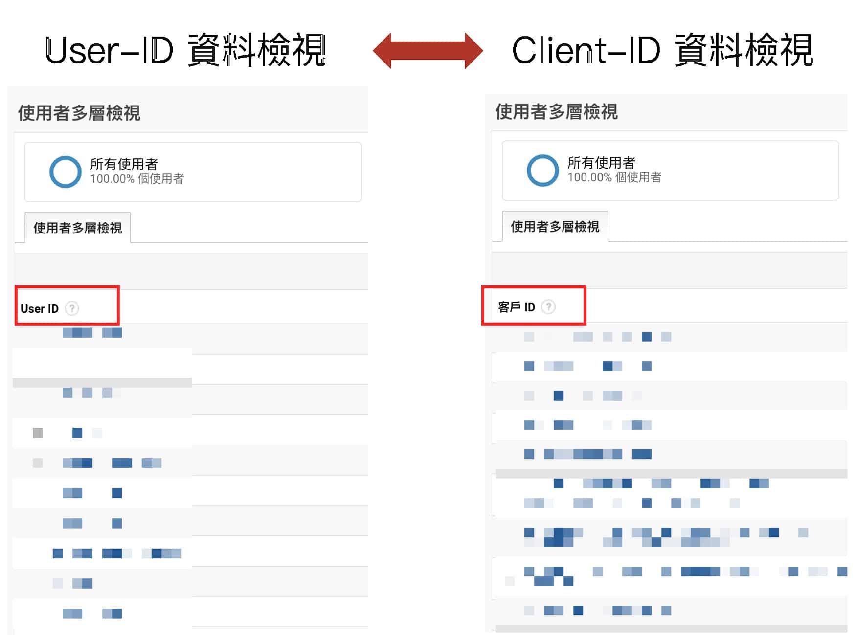 GA Client ID vs GA USER ID