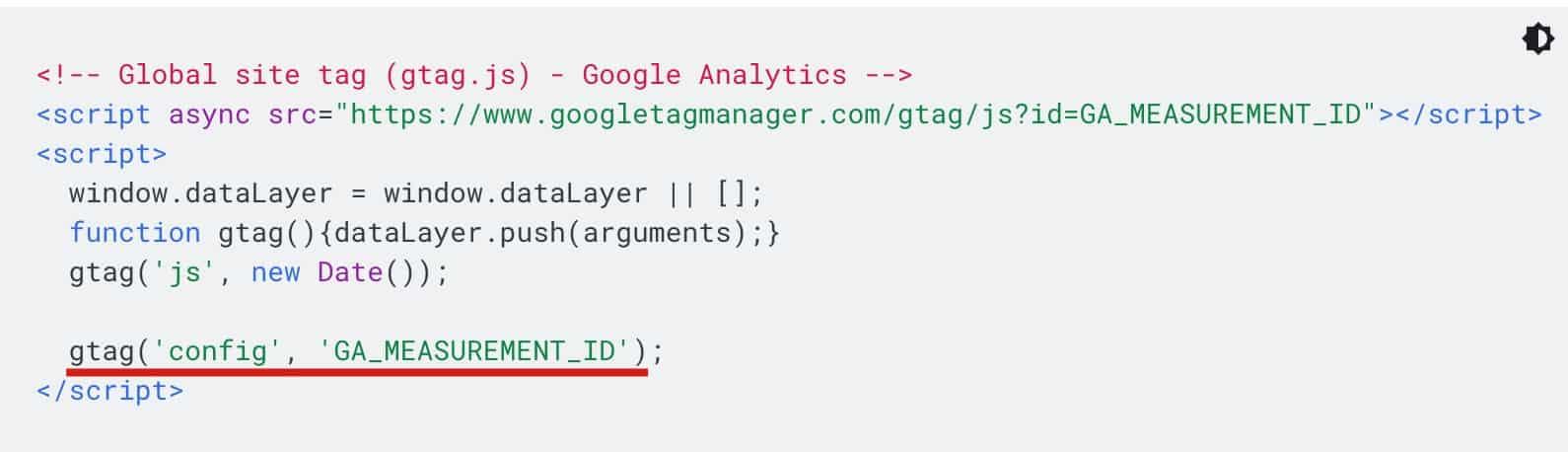 使用 gtag  追蹤碼