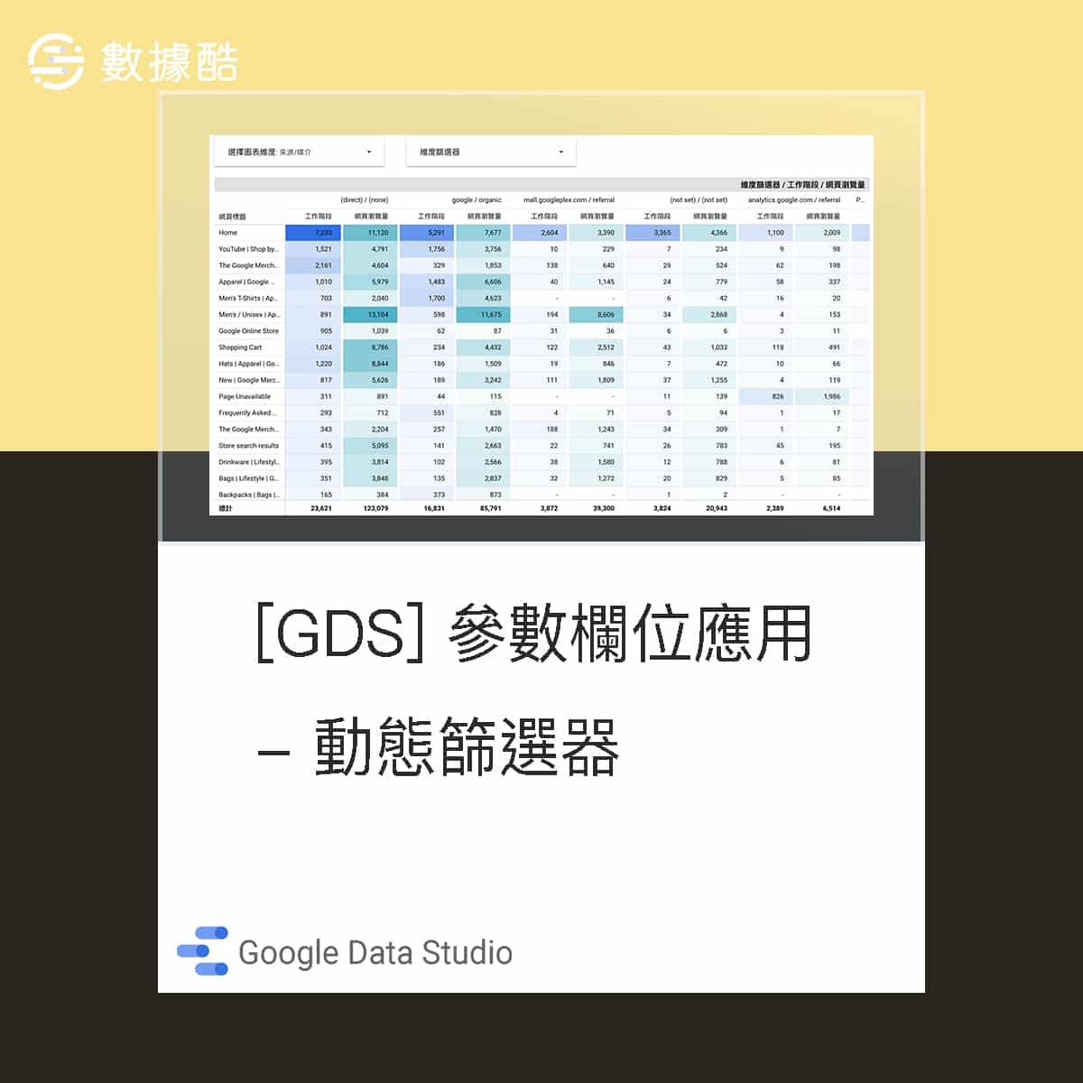 Data Studio 參數欄位應用 - 動態篩選器