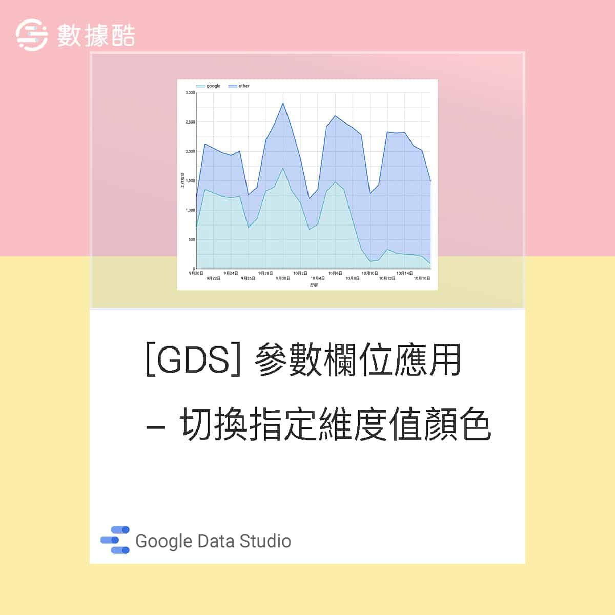Google Data Studio 參數欄位應用 - 切換指定維度值顏色