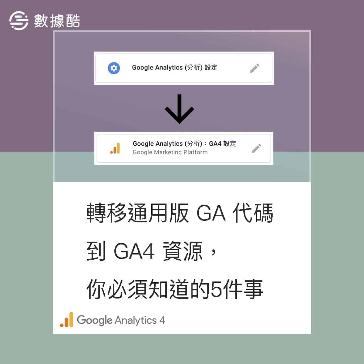 轉移通用版 GA 代碼到 GA4 資源,你必須知道的五件事