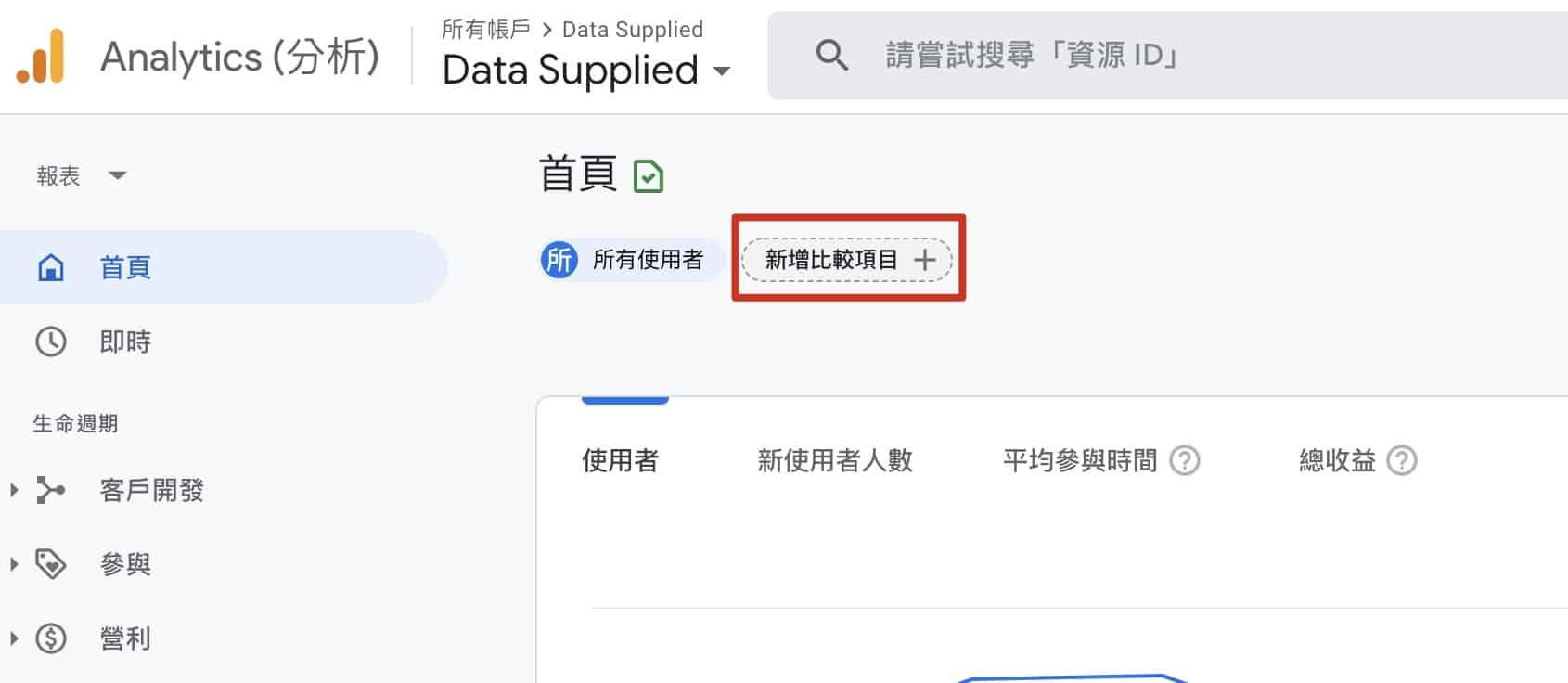 Google Analytics 4 預設報表 - 查看已登入使用者數據