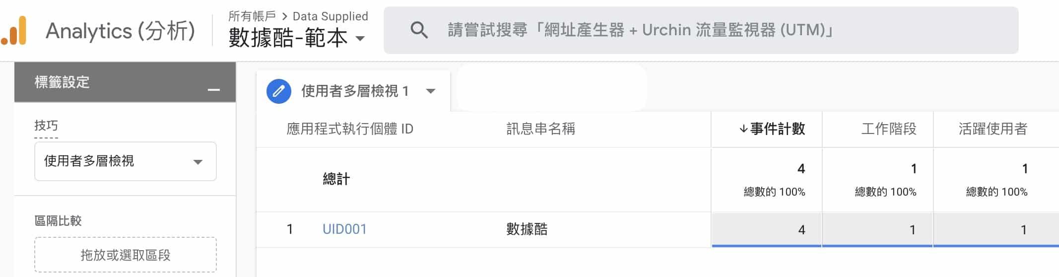 GA4 使用者多層檢視 User ID