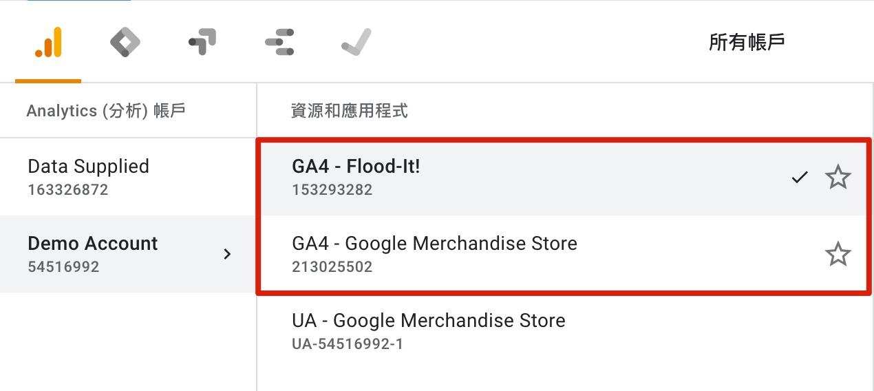 GA4 示範資源