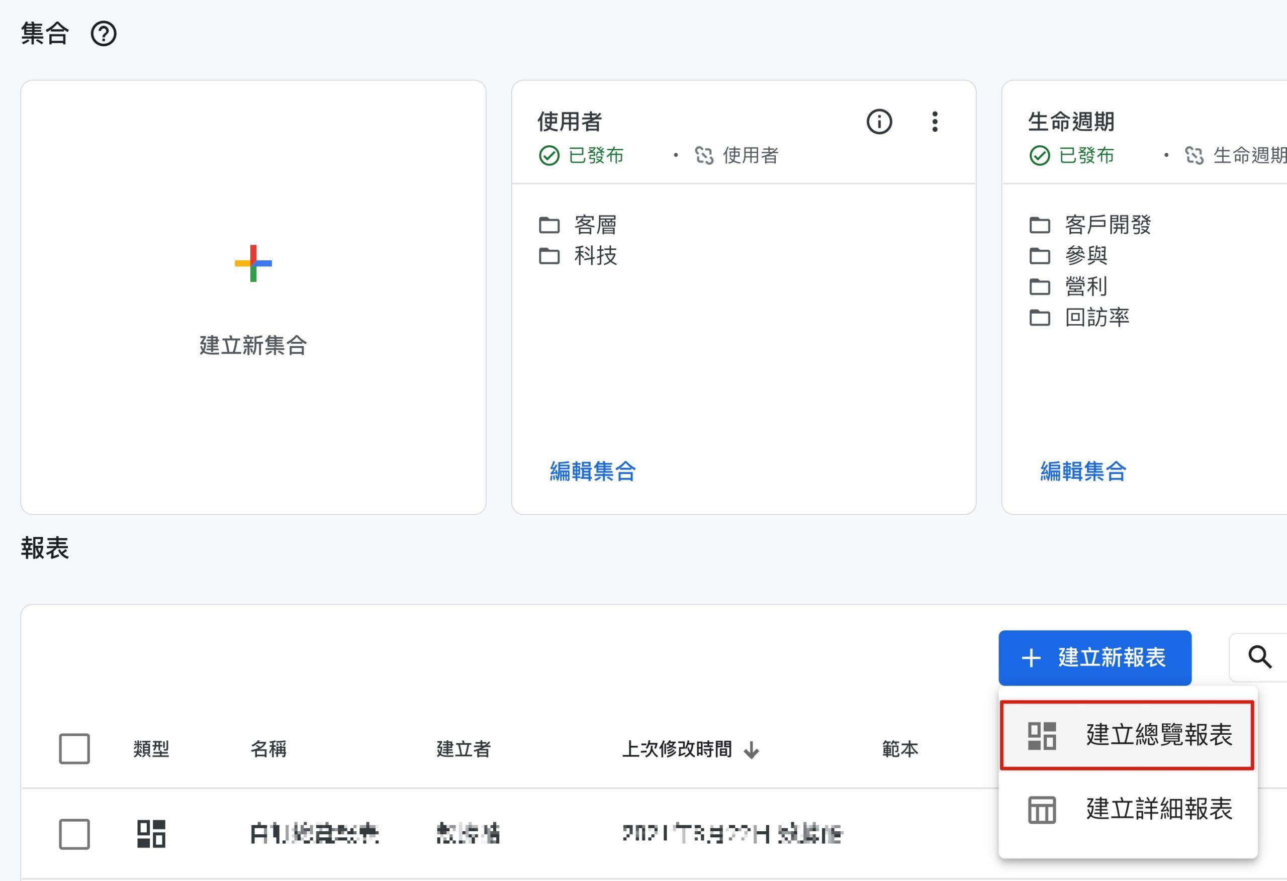 Google Analytics 4 建立總覽報表