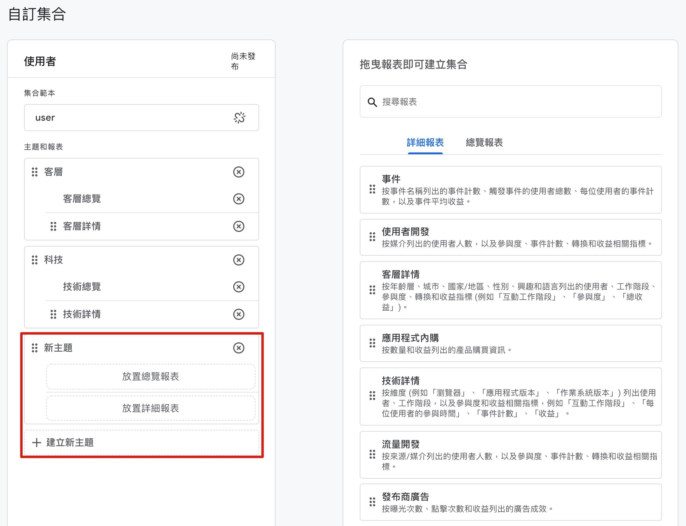 Google Analytics 4 集合與指標設定