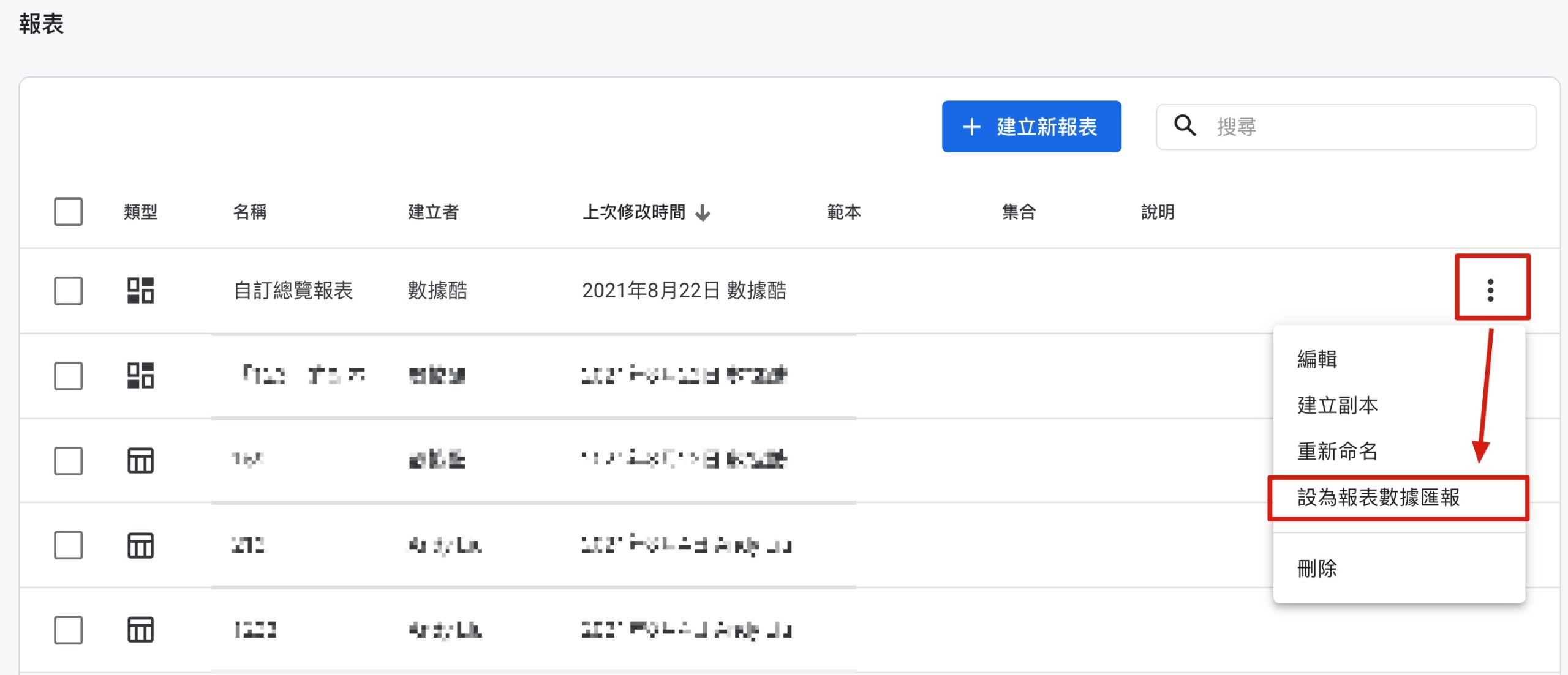 Google Analytics 4 設為報表數據匯報